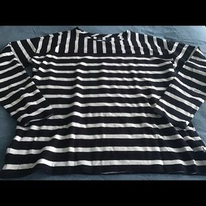 Women's brand new striped top by Loft, size Large